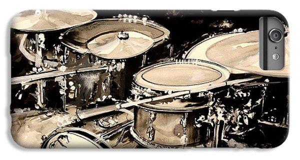 Drum iPhone 6 Plus Case - Abstract Drum Set by J Vincent Scarpace