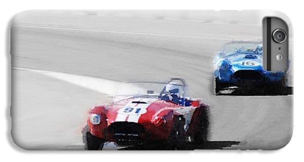 Cobra iPhone 6 Plus Case - Ac Cobra Racing Monterey Watercolor by Naxart Studio