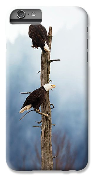 Adult Bald Eagles  Haliaeetus IPhone 6 Plus Case by Doug Lindstrand