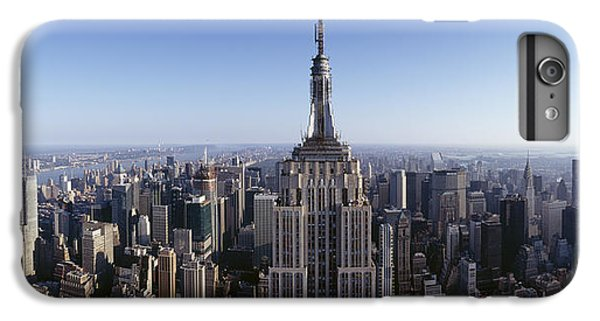 Aerial View Of A Cityscape, Empire IPhone 6 Plus Case by Panoramic Images