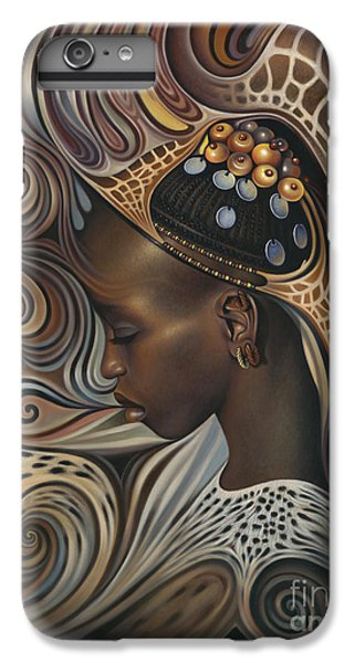 Brown Snake iPhone 6 Plus Case - African Spirits II by Ricardo Chavez-Mendez