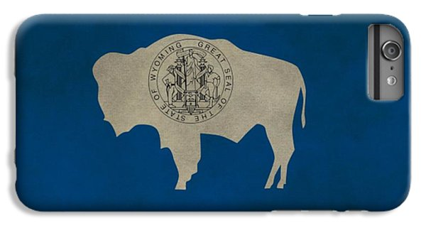 Aged Wyoming State Flag IPhone 6 Plus Case by Dan Sproul