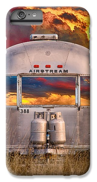 Airstream Travel Trailer Camping Sunset Window View IPhone 6 Plus Case