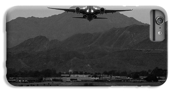 Airplane iPhone 6 Plus Case - Alaska Airlines Palm Springs Takeoff by John Daly