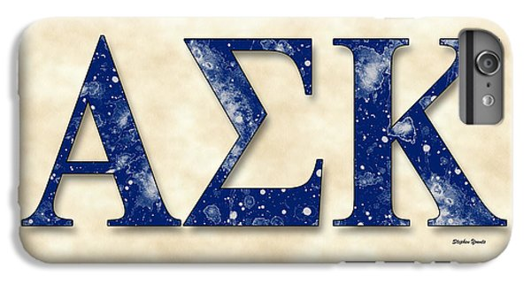 Alpha Sigma Kappa - Parchment IPhone 6 Plus Case by Stephen Younts