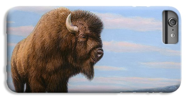 American Bison IPhone 6 Plus Case by James W Johnson