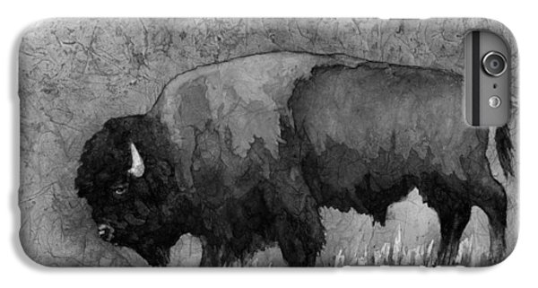 Monochrome American Buffalo 3  IPhone 6 Plus Case by Hailey E Herrera