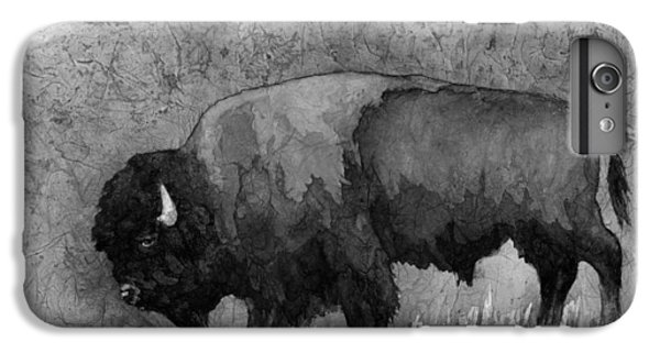 Monochrome American Buffalo 3  IPhone 6 Plus Case