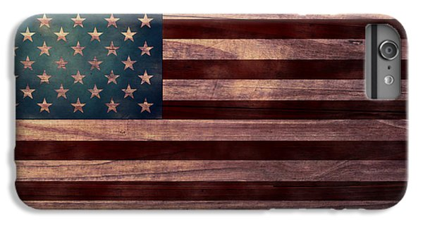 Folk Art iPhone 6 Plus Case - American Flag I by April Moen