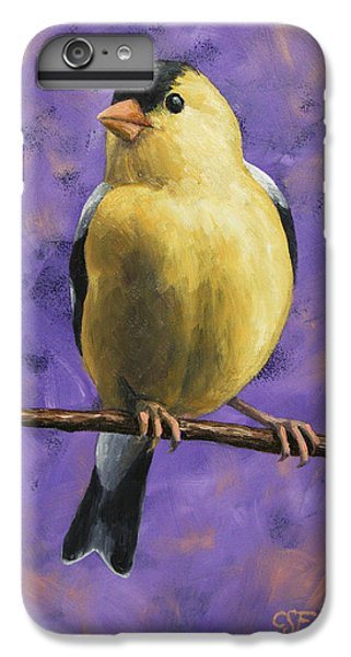 Finch iPhone 6 Plus Case - American Goldfinch by Crista Forest