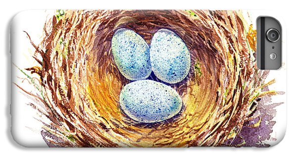American Robin Nest IPhone 6 Plus Case by Irina Sztukowski