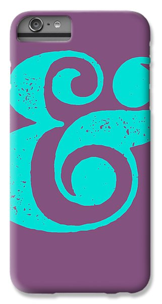 Ampersand Poster Purple And Blue IPhone 6 Plus Case by Naxart Studio