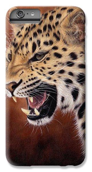 Amur Leopard Painting IPhone 6 Plus Case by Rachel Stribbling