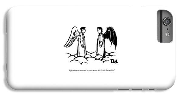An Angel With Bat Wings Speaks To An Angel IPhone 6 Plus Case by Drew Dernavich