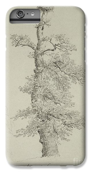 Stork iPhone 6 Plus Case - Ancient Oak Tree With A Storks Nest by Caspar David Friedrich