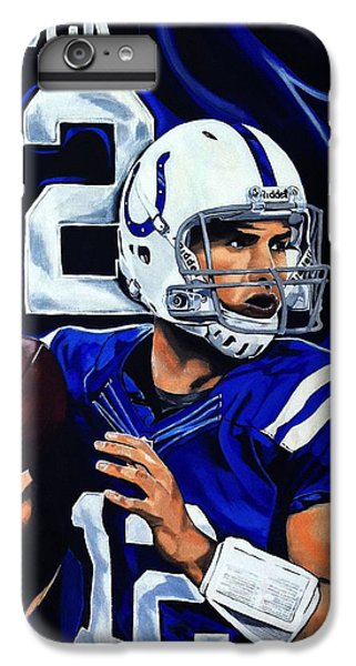 Andrew Luck IPhone 6 Plus Case by Chris Eckley
