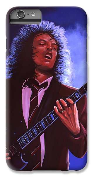 Rock And Roll iPhone 6 Plus Case - Angus Young Of Ac / Dc by Paul Meijering