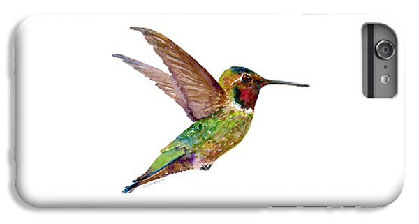Anna Hummingbird IPhone 6 Plus Case by Amy Kirkpatrick