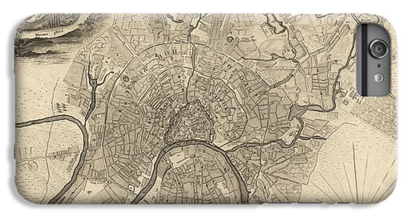 Antique Map Of Moscow Russia By Ivan Fedorovich Michurin - 1745 IPhone 6 Plus Case by Blue Monocle