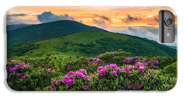Mountain Sunset iPhone 6 Plus Case - North Carolina Appalachian Trail Roan Mountain Highlands by Dave Allen