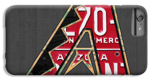 Arizona Diamondbacks Baseball Team Vintage Logo Recycled License Plate Art IPhone 6 Plus Case