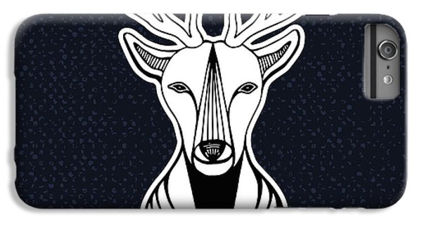 Nature Trail iPhone 6 Plus Case - Artwork With Deer Head. Hipster Print by Worldion