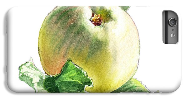 IPhone 6 Plus Case featuring the painting Artz Vitamins Series A Happy Green Apple by Irina Sztukowski