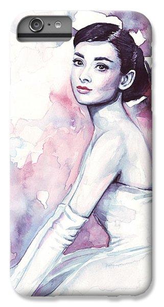 Actors iPhone 6 Plus Case - Audrey Hepburn Portrait by Olga Shvartsur