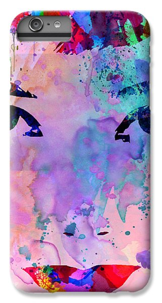 Audrey Watercolor IPhone 6 Plus Case by Naxart Studio