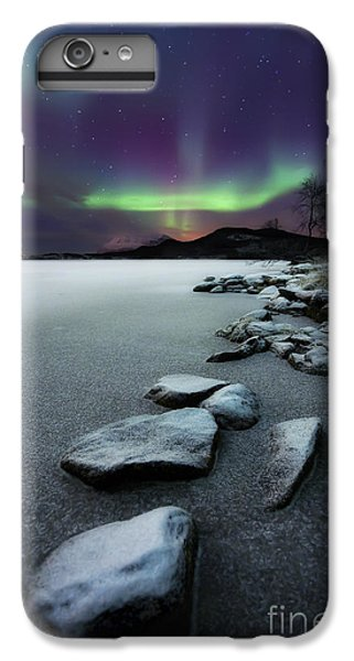 Landscape iPhone 6 Plus Case - Aurora Borealis Over Sandvannet Lake by Arild Heitmann