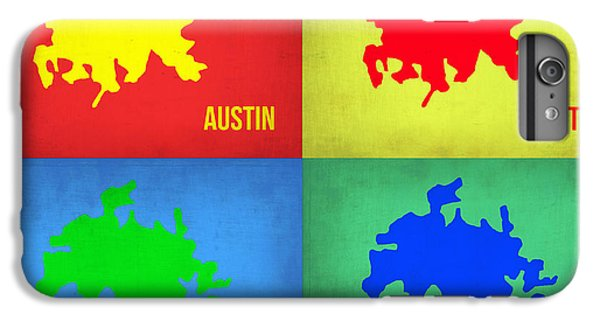 Austin iPhone 6 Plus Case - Austin Pop Art Map 1 by Naxart Studio