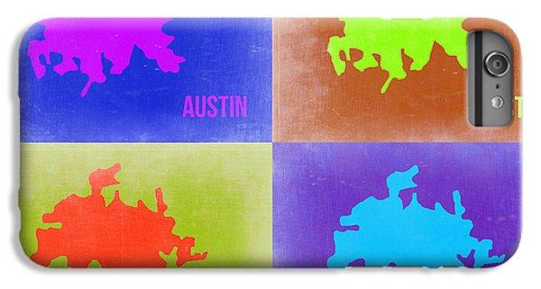 Austin iPhone 6 Plus Case - Austin Pop Art Map 2 by Naxart Studio