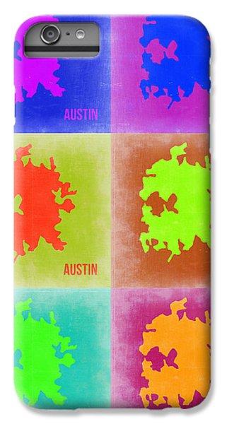 Austin iPhone 6 Plus Case - Austin Pop Art Map 4 by Naxart Studio