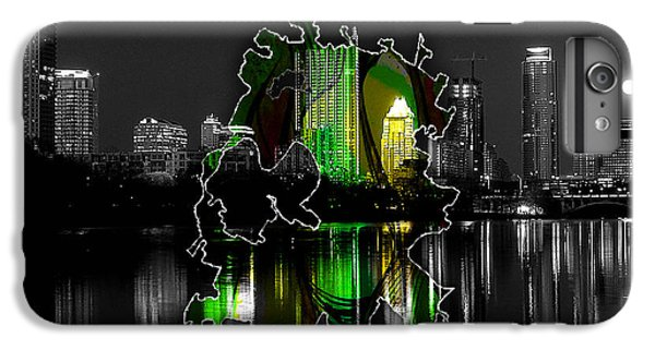 Austin Texas Map And Skyline Watercolor IPhone 6 Plus Case by Marvin Blaine