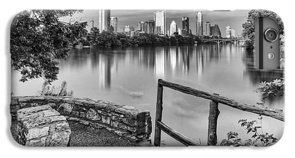 Goose iPhone 6 Plus Case - Austin Texas Skyline Lou Neff Point In Black And White by Silvio Ligutti