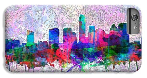 Austin Texas Skyline Watercolor 2 IPhone 6 Plus Case