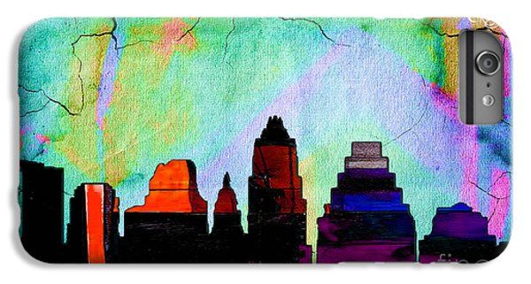 Austin Texas Skyline Watercolor IPhone 6 Plus Case by Marvin Blaine