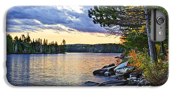 Beautiful iPhone 6 Plus Case - Autumn Sunset At Lake by Elena Elisseeva
