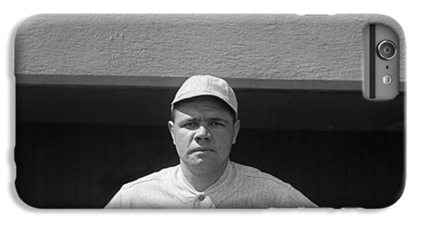 Babe Ruth In Red Sox Uniform IPhone 6 Plus Case by Underwood Archives