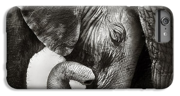 Wildlife iPhone 6 Plus Case - Baby Elephant Seeking Comfort by Johan Swanepoel