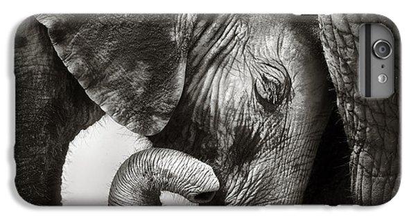 Elephant iPhone 6 Plus Case - Baby Elephant Seeking Comfort by Johan Swanepoel