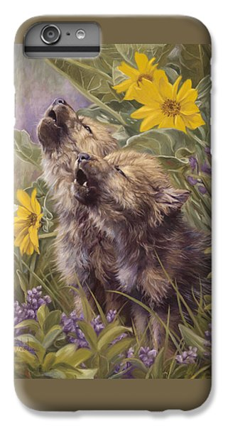 Baby Wolves Howling IPhone 6 Plus Case by Lucie Bilodeau