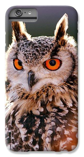 Backlit Eagle Owl IPhone 6 Plus Case by Roeselien Raimond