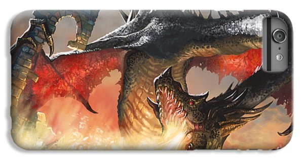 Fantasy iPhone 6 Plus Case - Balerion The Black by Ryan Barger