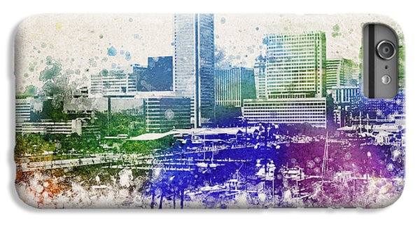 Baltimore City Skyline IPhone 6 Plus Case by Aged Pixel