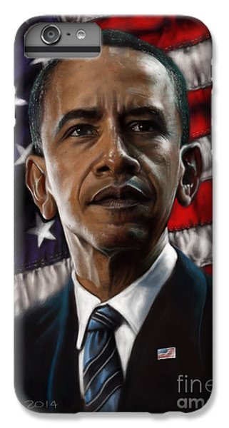 Barack Obama iPhone 6 Plus Case - Barack Obama by Andre Koekemoer