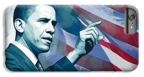 Barack Obama iPhone 6 Plus Case - Barack Obama Artwork 2 by Sheraz A