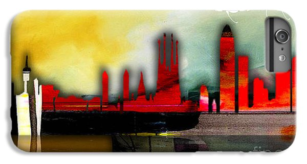 Barcelona Spain Skyline Watercolor IPhone 6 Plus Case