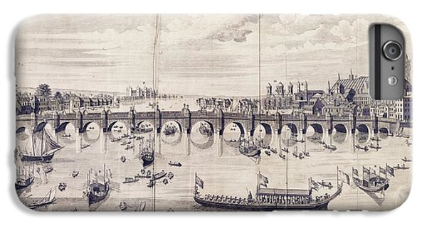 Barges At Westminster Bridge IPhone 6 Plus Case by Library Of Congress