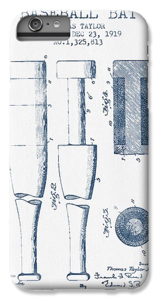 Baseball Bat Patent From 1919 - Blue Ink IPhone 6 Plus Case by Aged Pixel